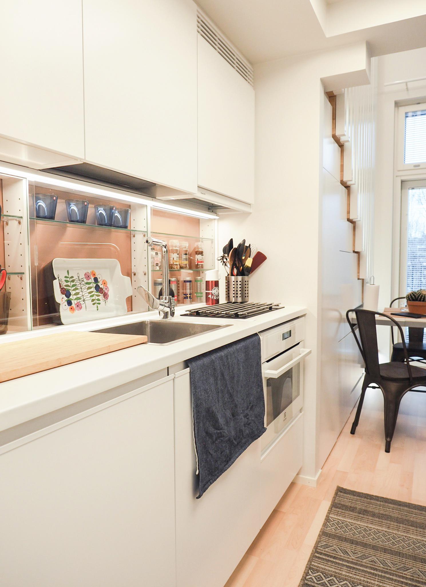 studiokoti, pieni keittiö