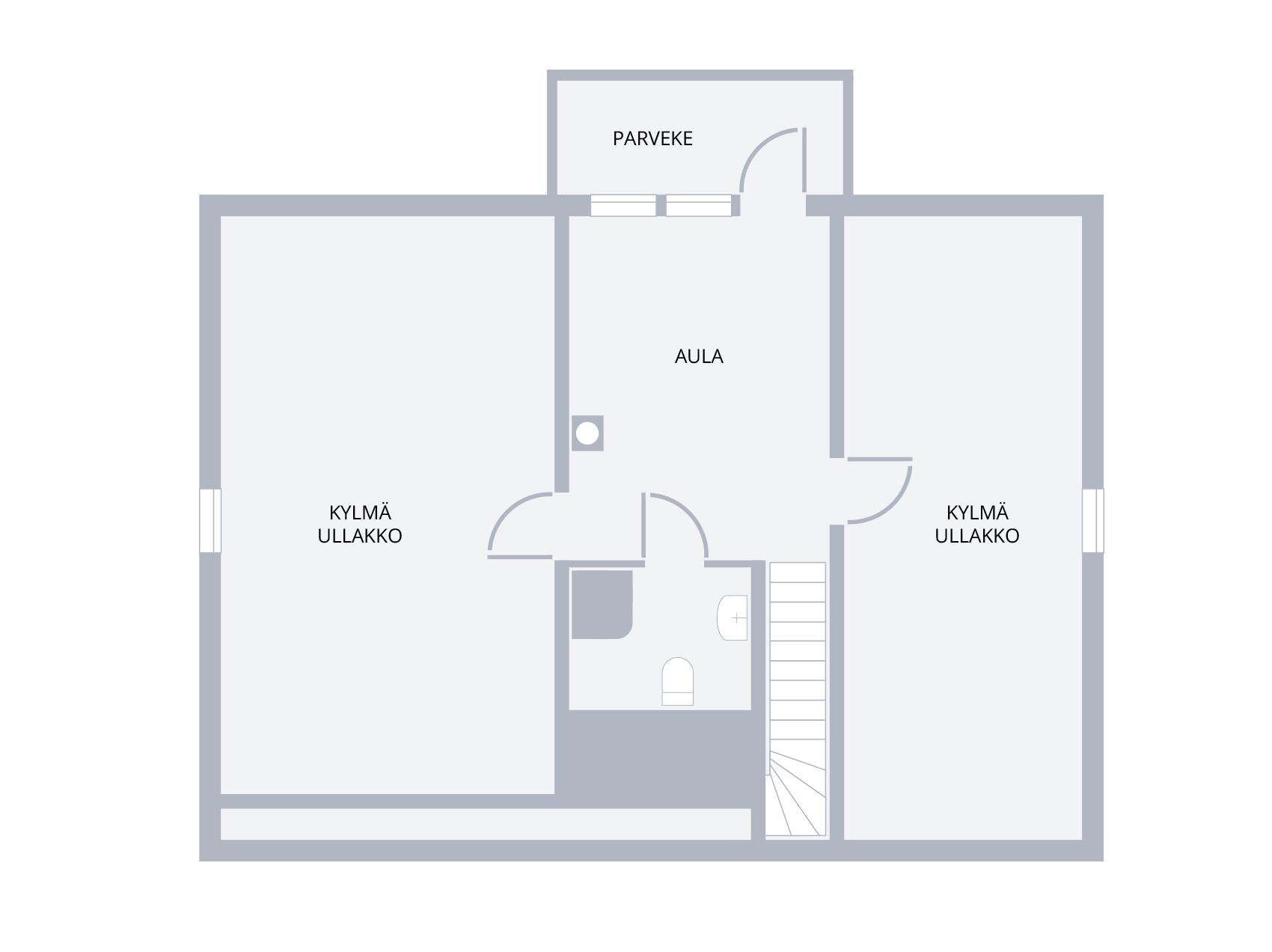 lisää tilaa omakotitaloon, yläkerran rakentamaton tila asuinkäyttöön