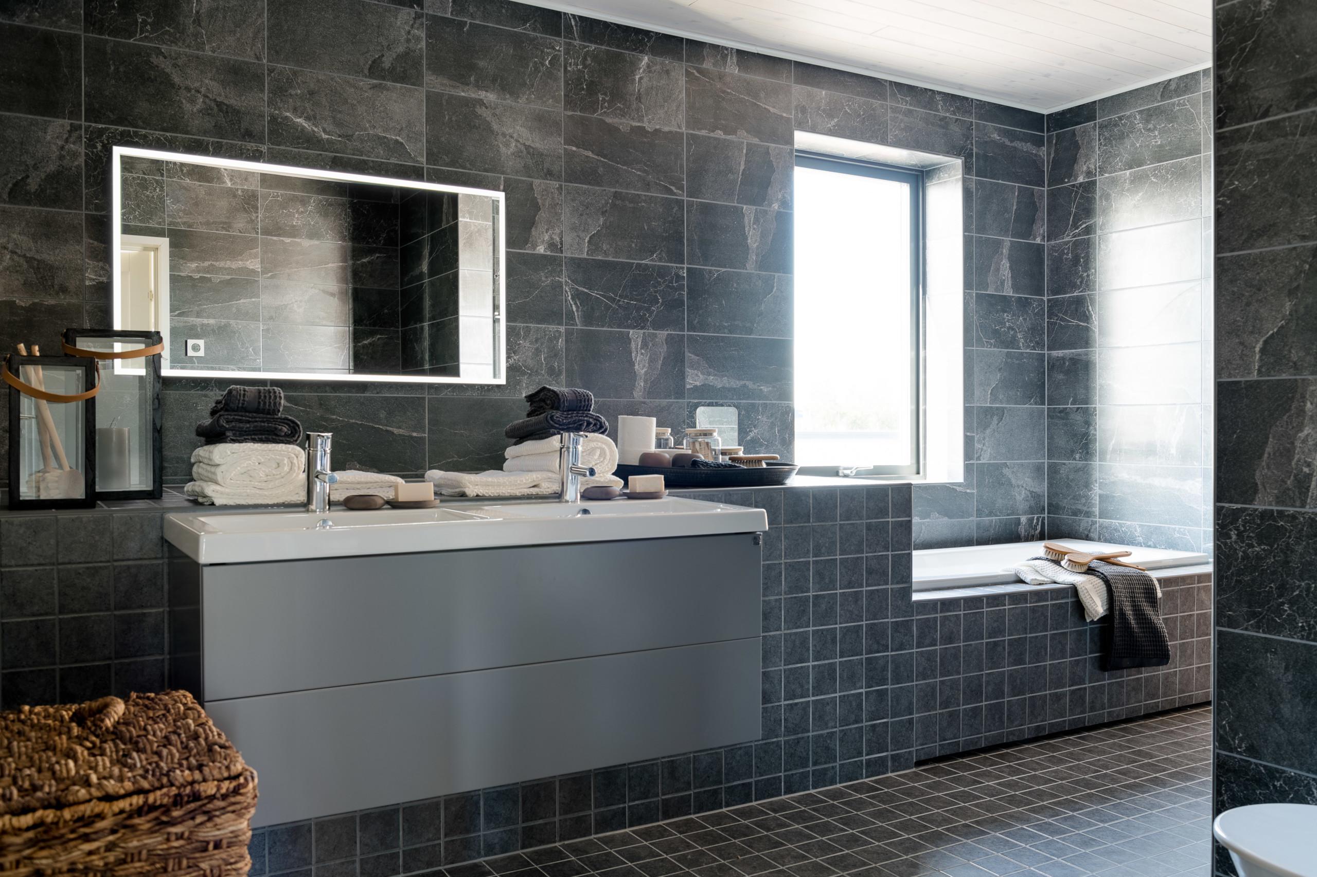kylpyhuone kohteessa fiskarhedenvillan pohjanvalo
