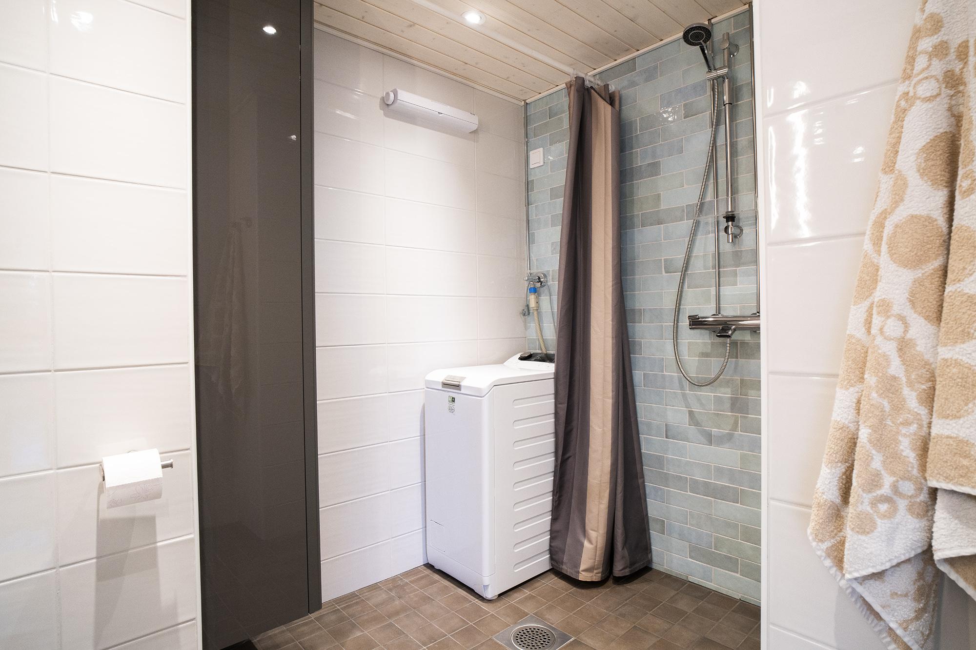 Kolmio Karakalliossa remontoitu kylpyhuone